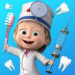 Masha and the Bear Free Dentist Games for Kids Mod Unlimited Money